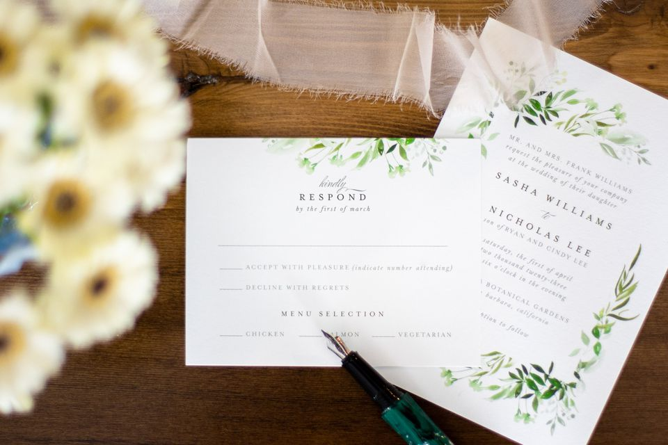 invitation with an RSVP
