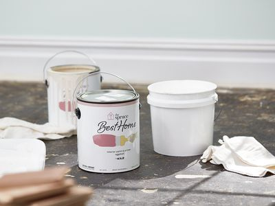 Paint cans in home