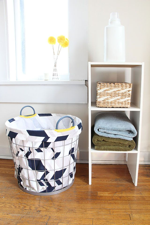 DIY Fabric Laundry Basket Liner