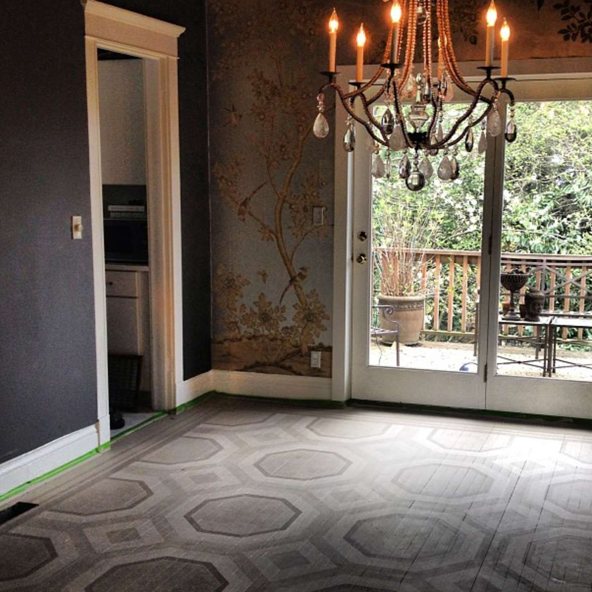 pisos de madera de diseño gris