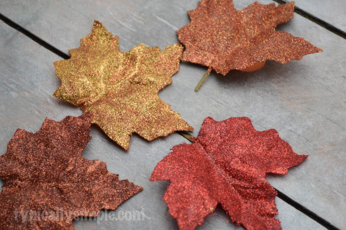 How to make glitter leaves for fall