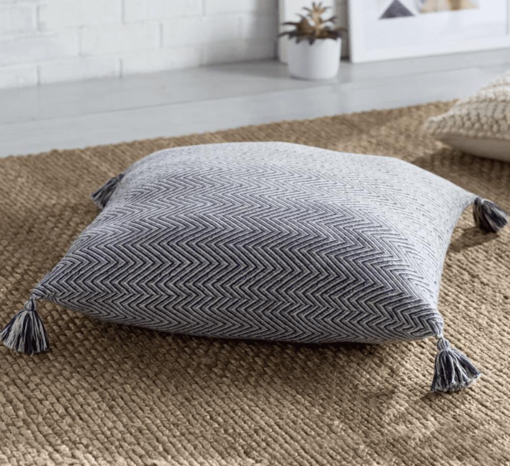Mistana Cottonwood Chevron Cotton Floor Pillow