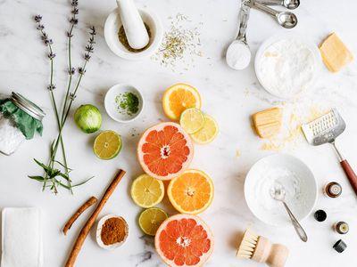ingredients for making scouring powder
