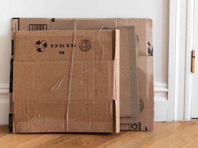 bound cardboard boxes