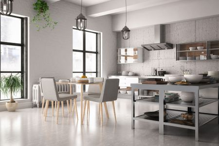 painting ideas how to make a small kitchen look larger