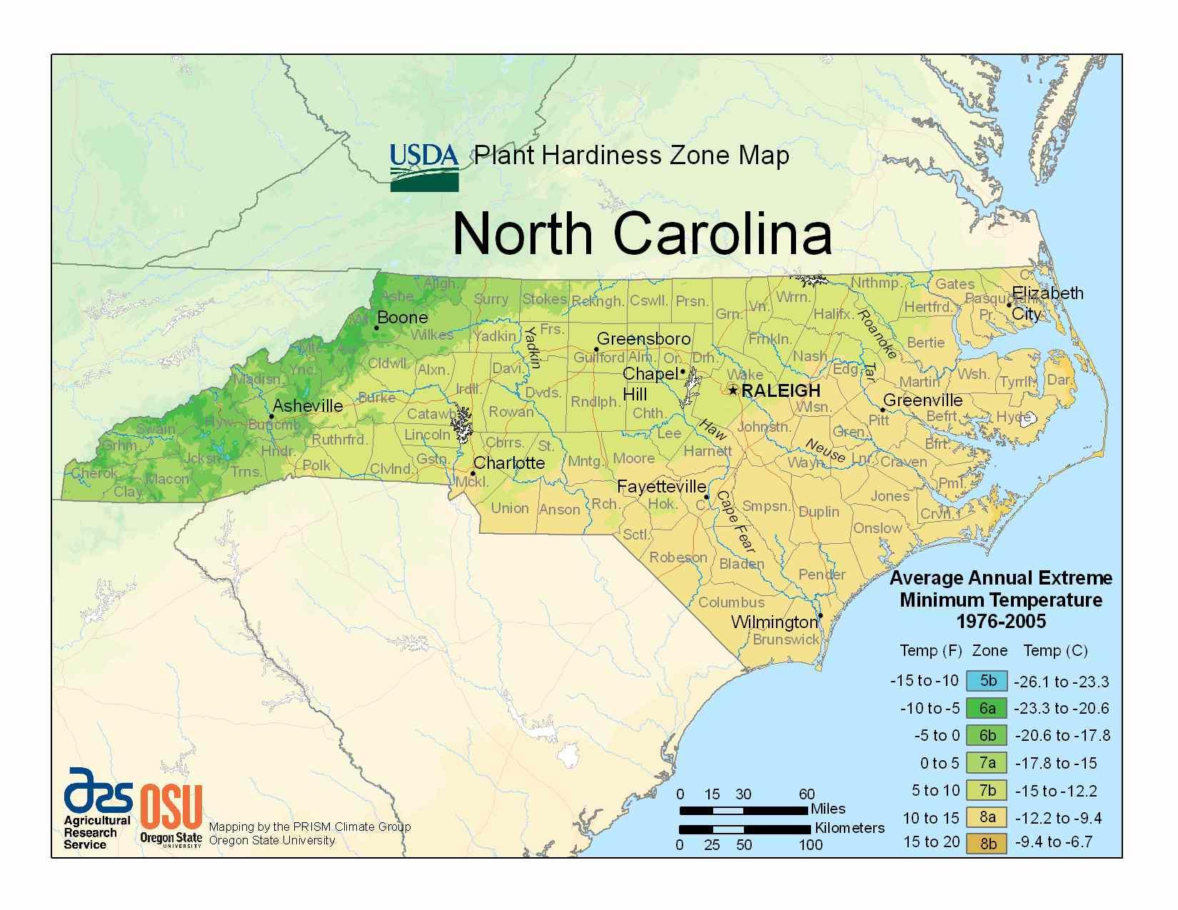 Photo of North Carolina Hardiness Zones