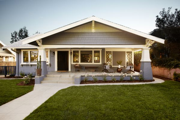 The exterior of a bungalow-style home.