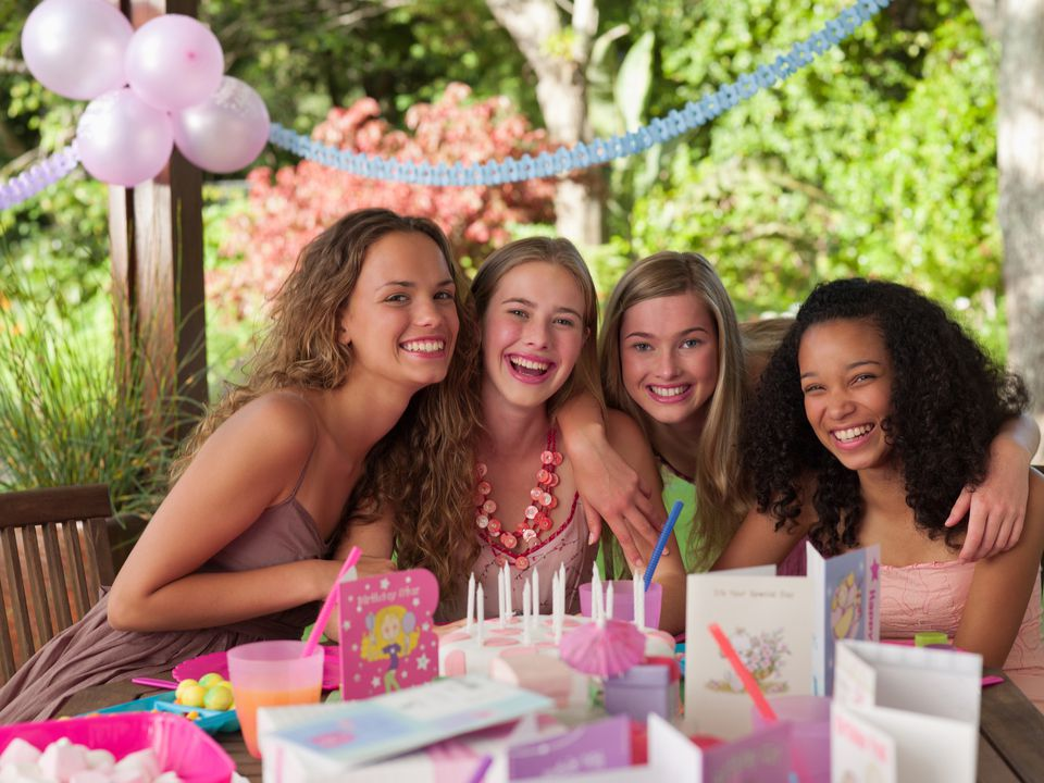 Teen girls partying really