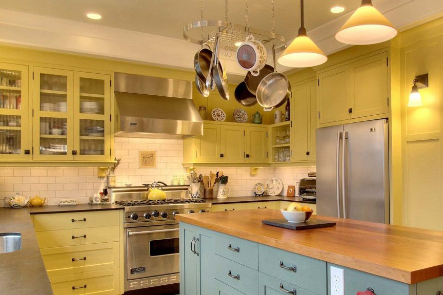 butter yellow kitchen