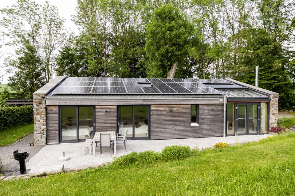 Solar panels on a home