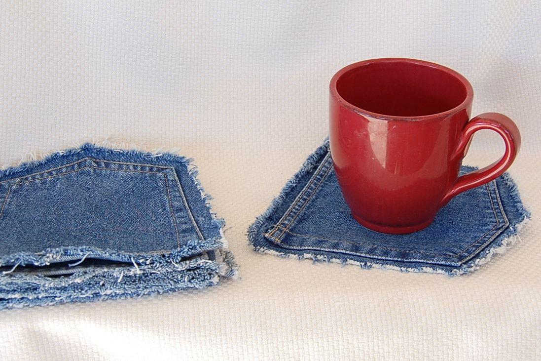 Posavasos de bolsillo de mezclilla sin costuras