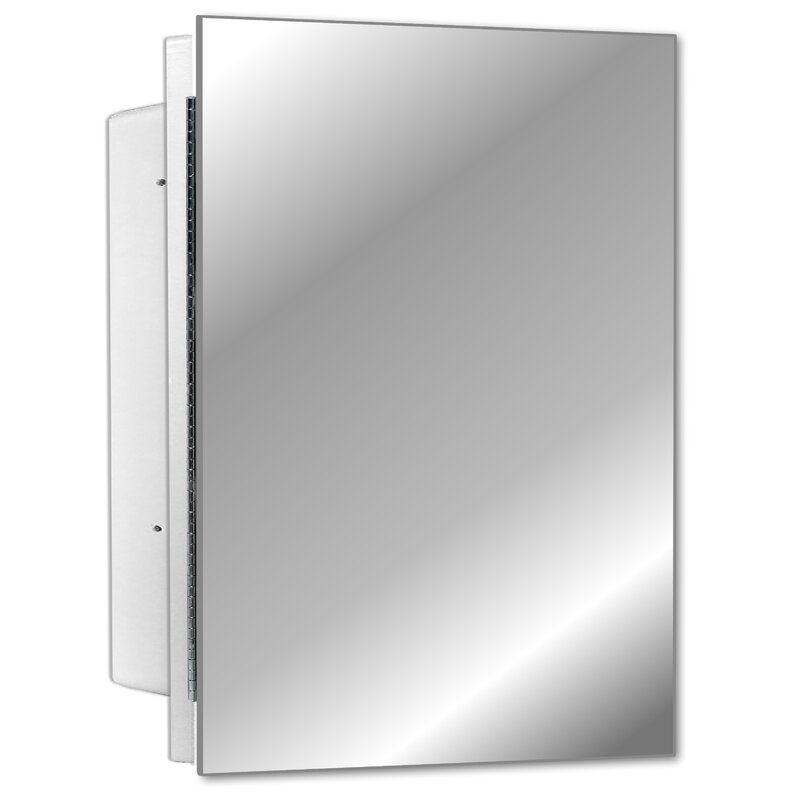 Adaiyah Recessed Frameless Single Door Medicine Cabinet