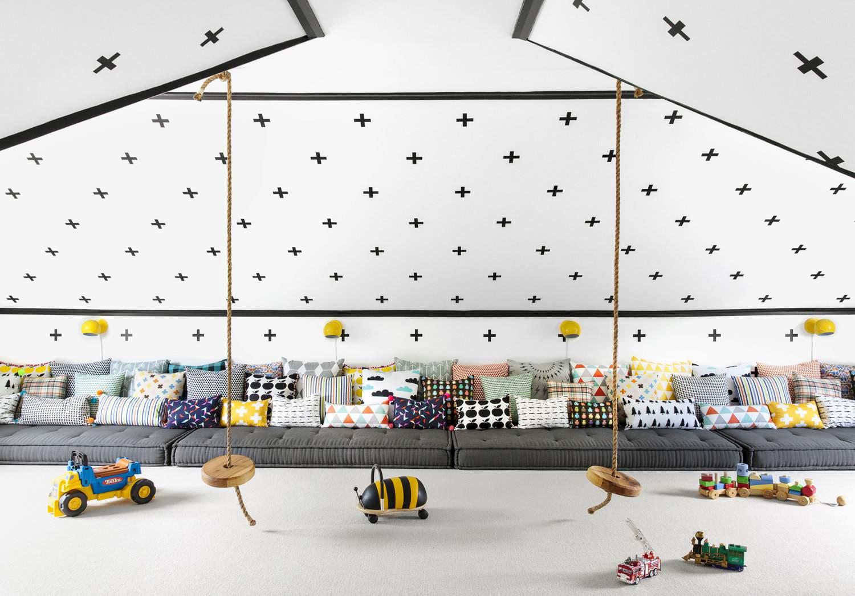 Beach house attic playroom