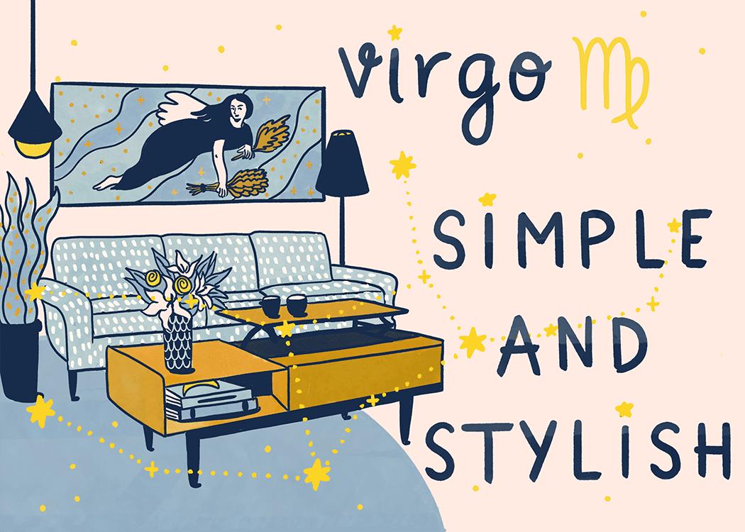 virgo home decorating illustration