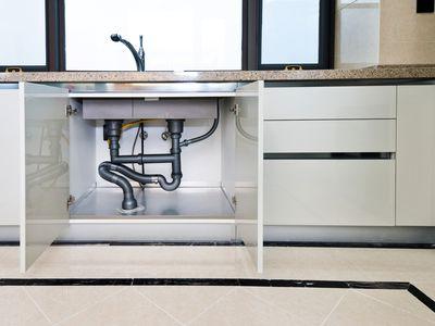 Empty space under kitchen sink
