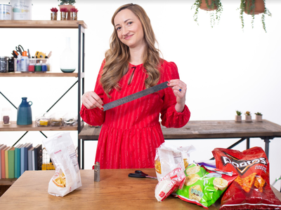 how to reseal a chip bag one thing video hero