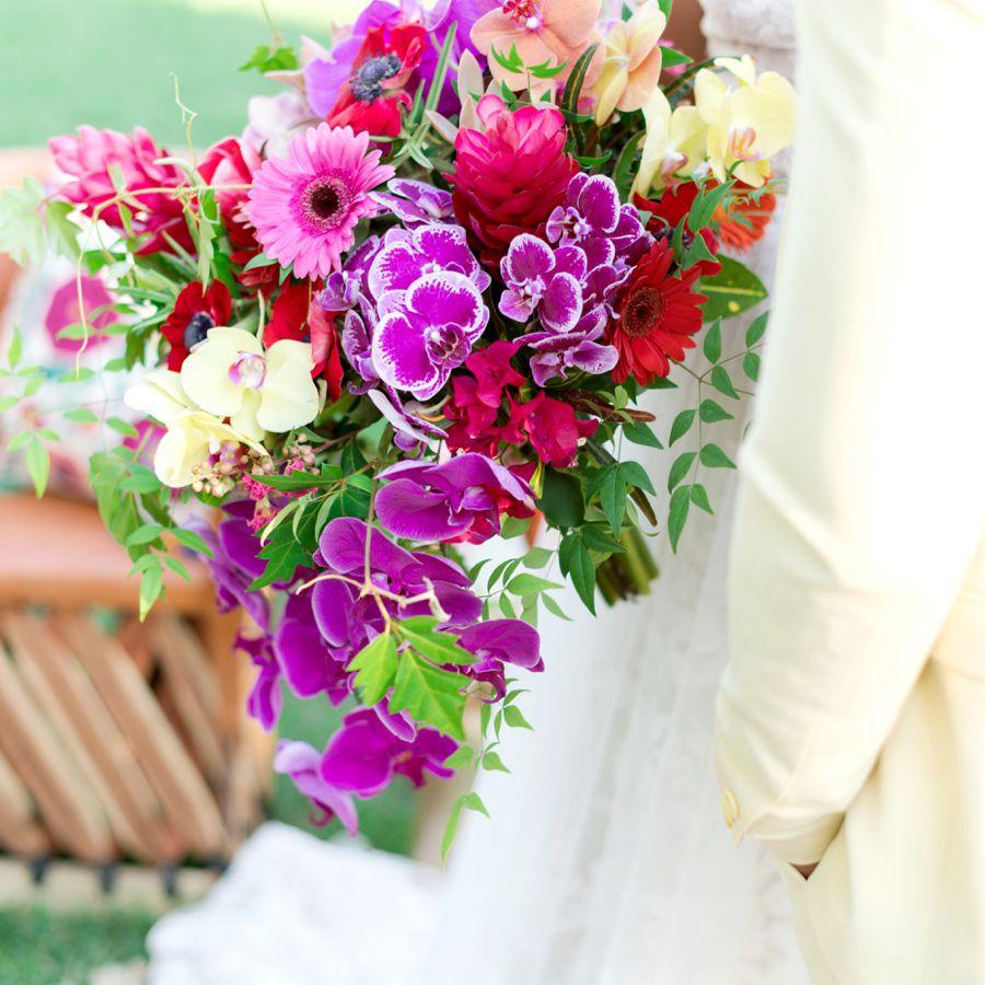 Orchid Summer Wedding Bouquet