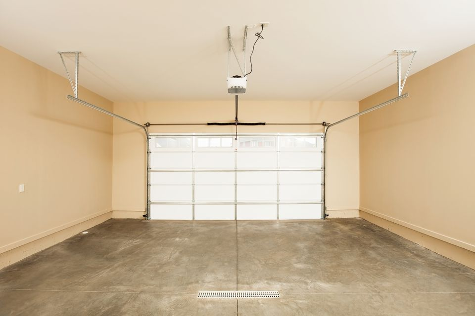 Two Car Garage Interior with Door
