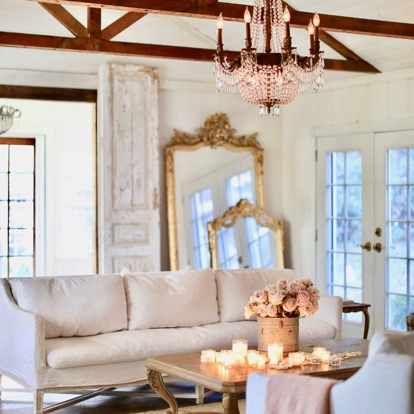 French country style living room.
