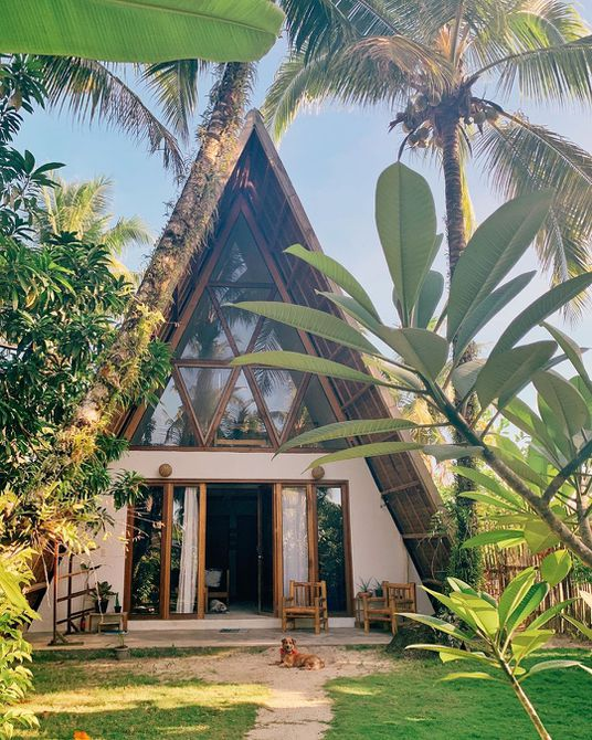 Un marco casa en la jungla
