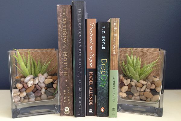 Glass Vase Bookends