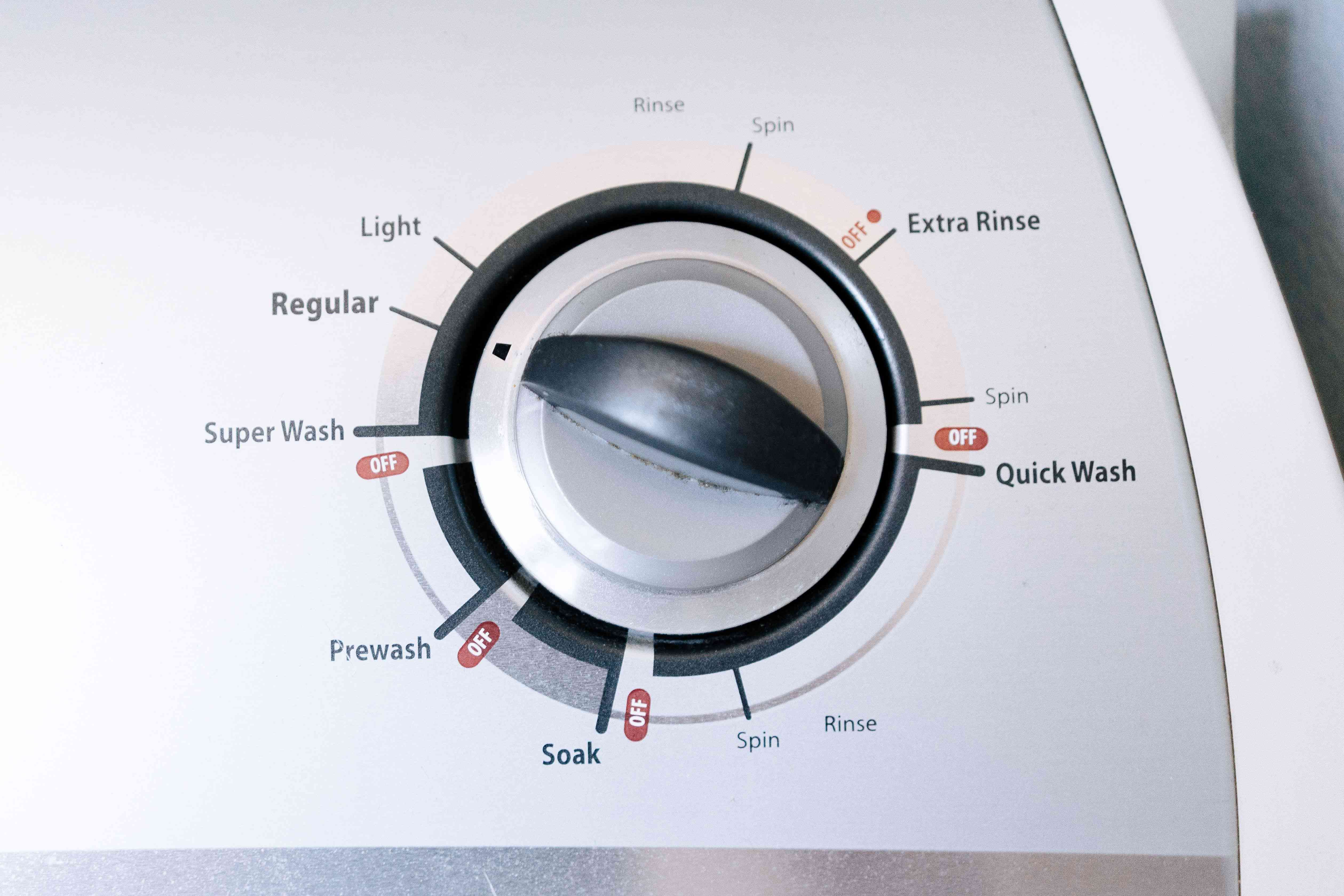 Allowing the washer to complete a full cycle