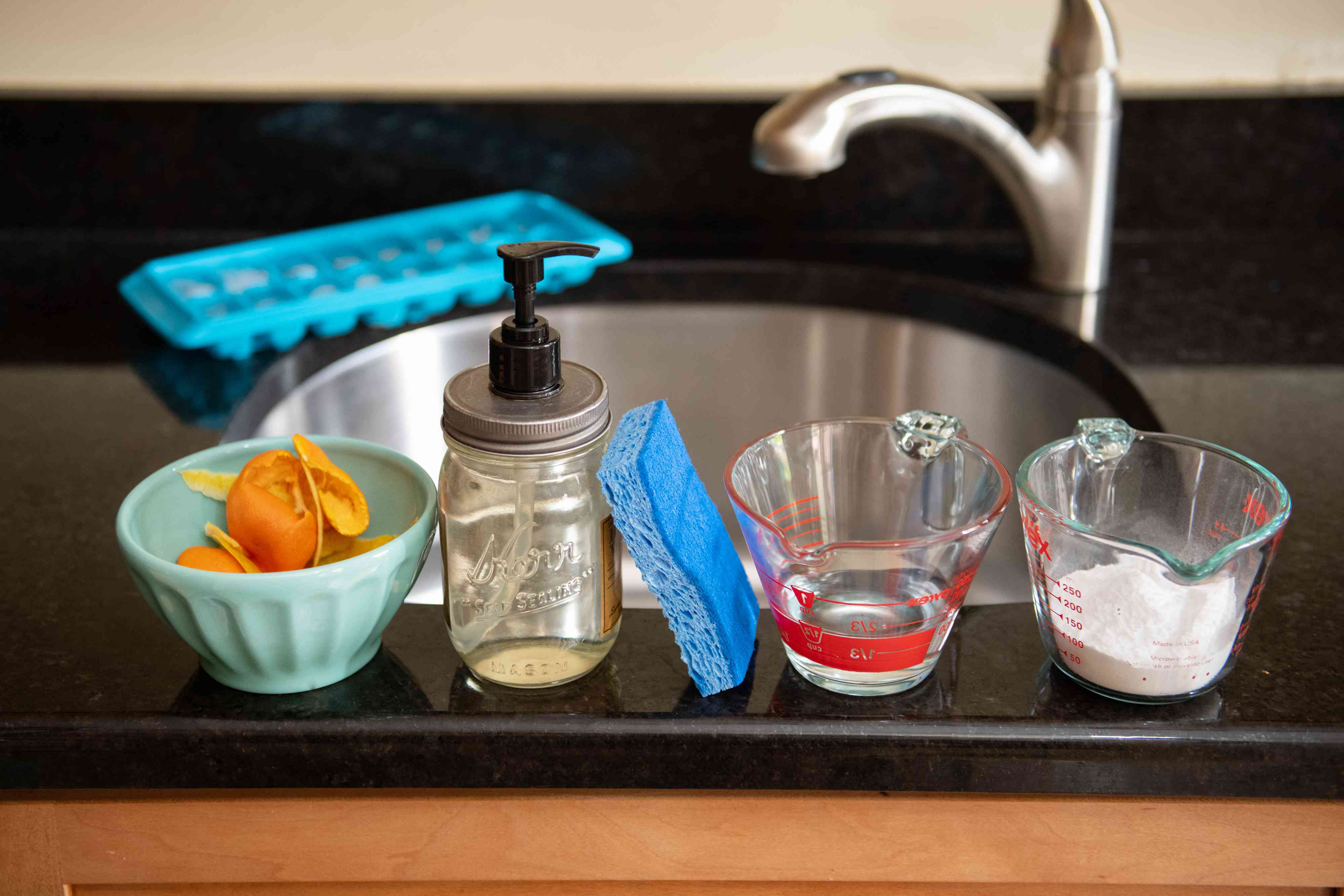 materials to clean a garbage disposal