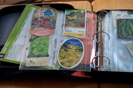 getting your garden journal organized