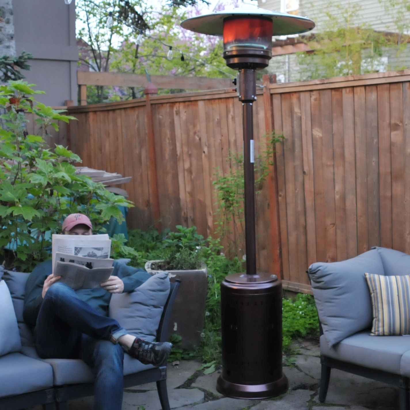 Fire Sense Outdoor Patio Heater Review Impressive Heat
