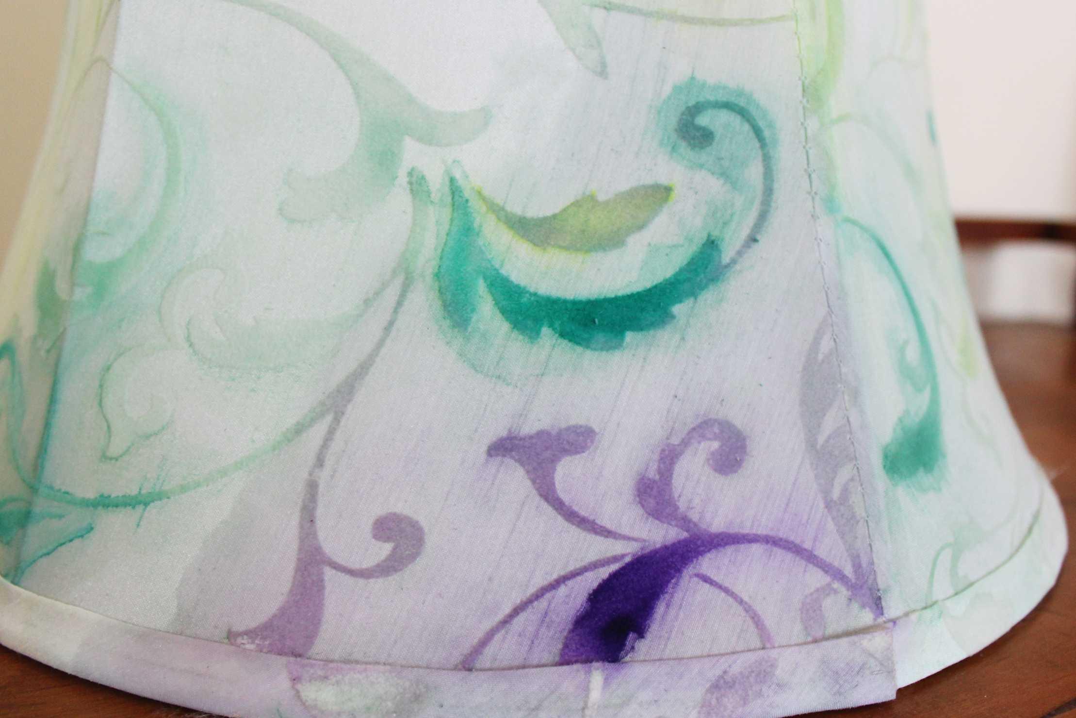 watercolor lampshade diy