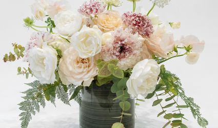 Centerpiece of peonies