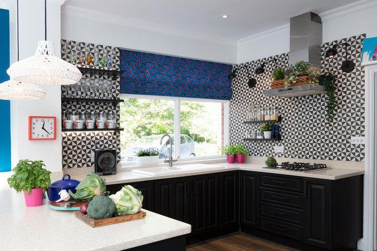cocina contemporánea gráfica y moderna