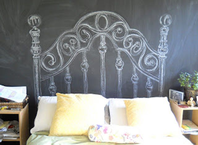 Chalk-Drawn Headboard