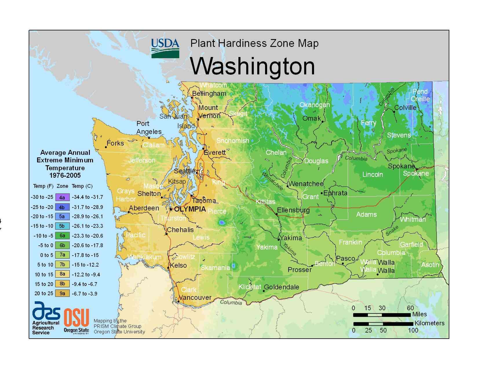 Photo of the Washington Hardiness Zones