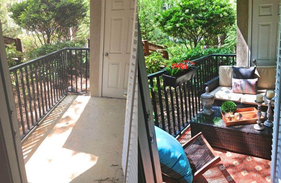 balcón que se asemeja a una habitación al aire libre