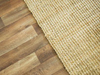 Wooden floor and rug