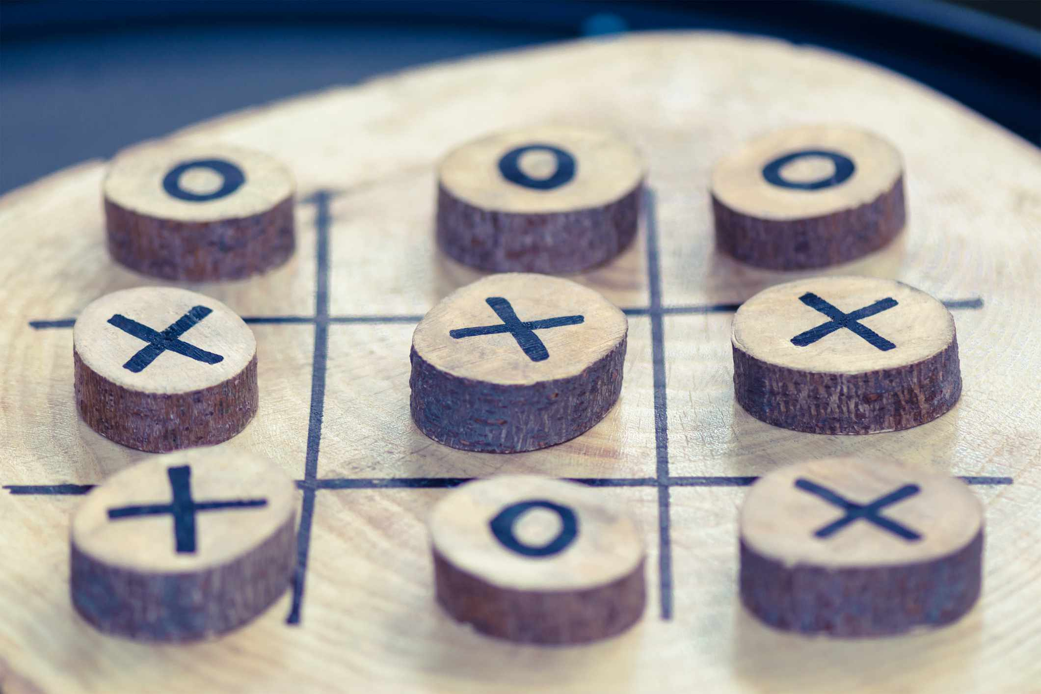 wooden game tic tac toe