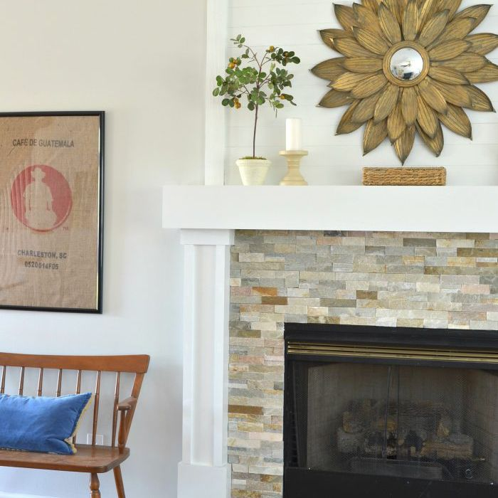 Fireplace Raised Hearth Makeover After