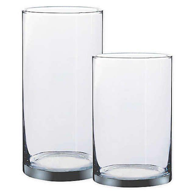 W Home Cylinder Glass Vase