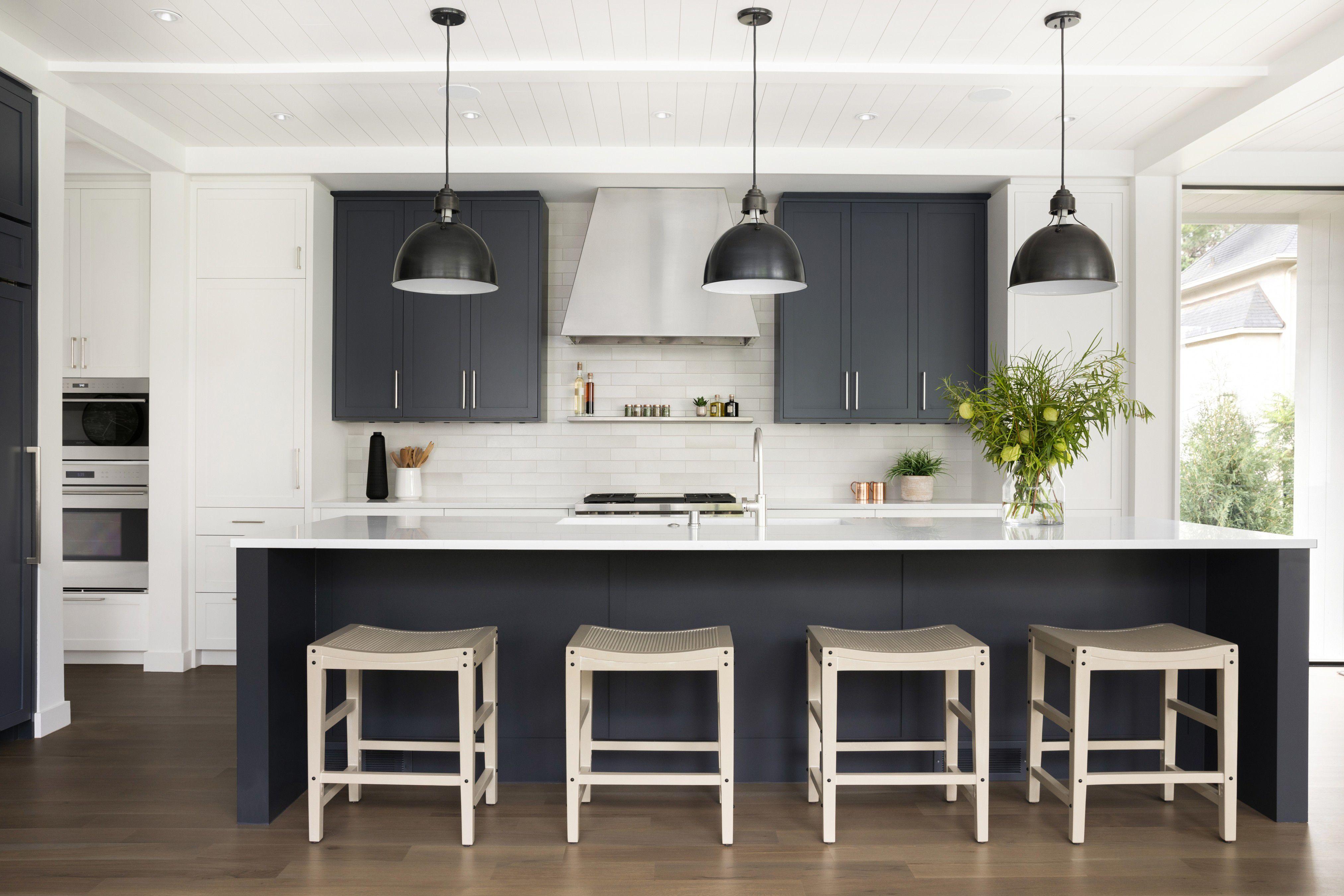 gabinetes de cocina negro mate