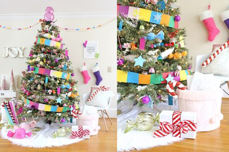 candy themed christmas tree - Candy Themed Christmas Decorations