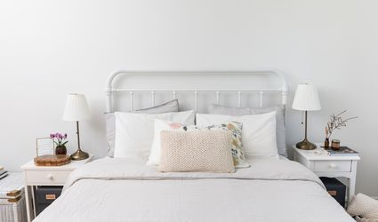 well-made bed