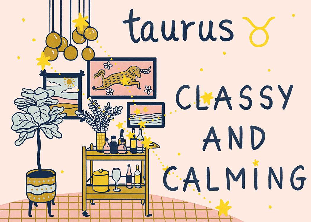 taurus home decorating illustration