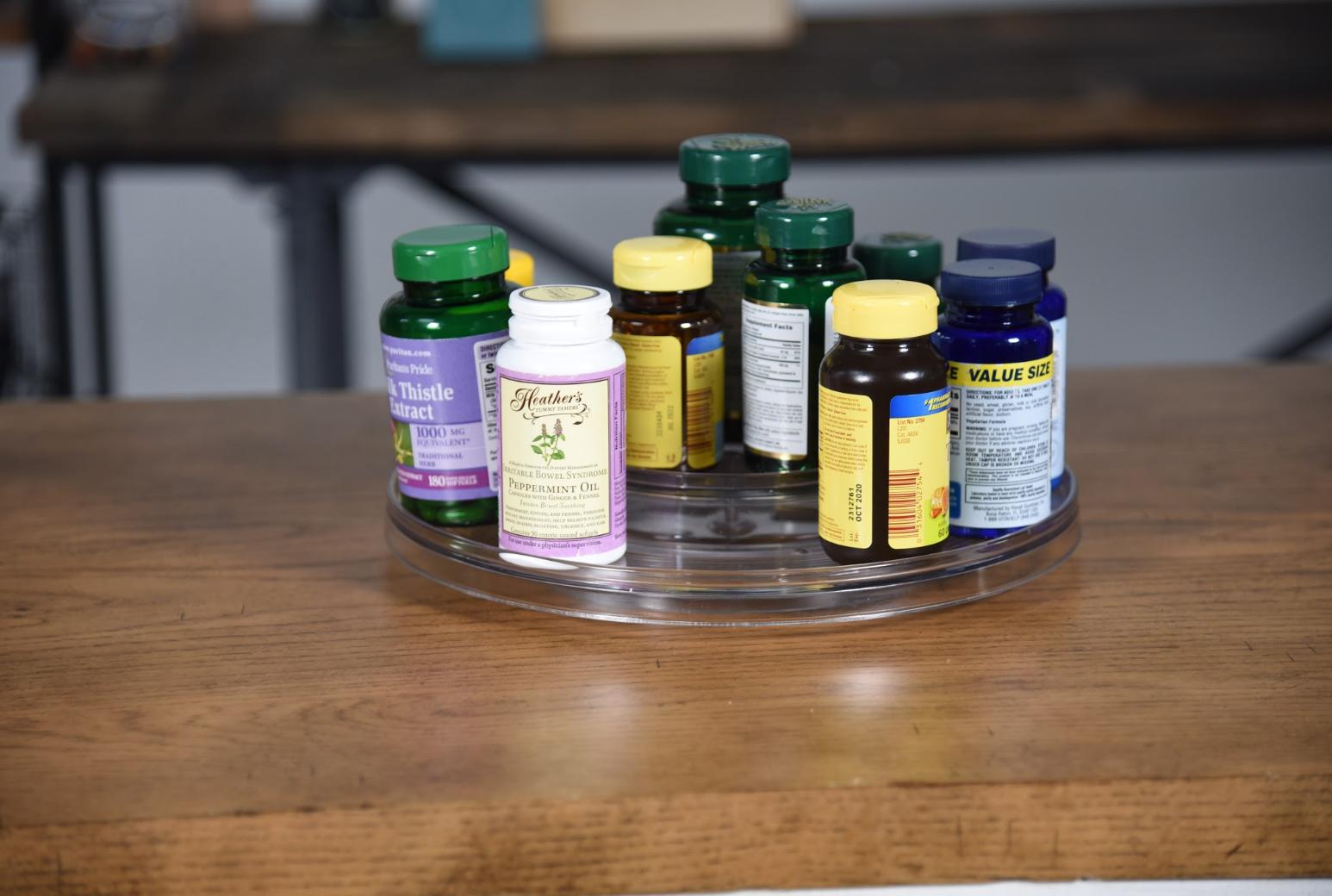 vitamins in a lazy susan