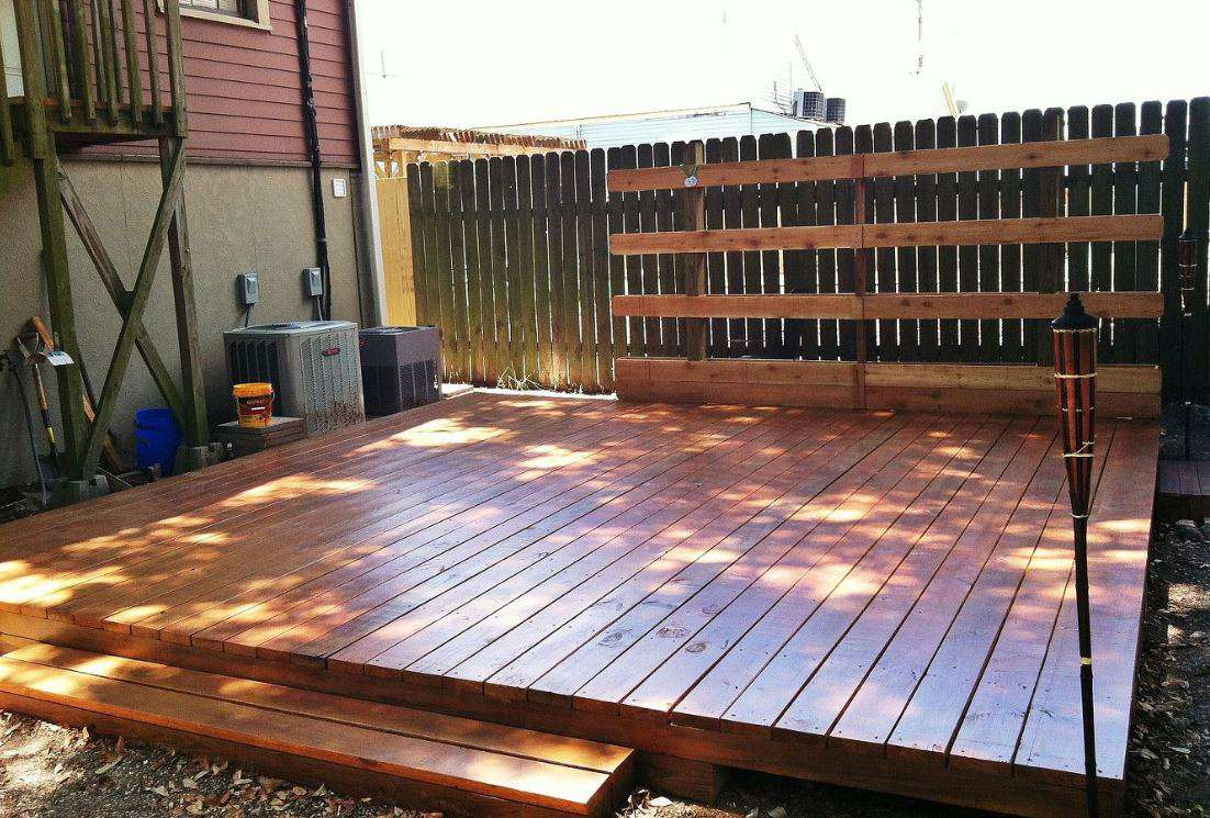 backyard deck installation