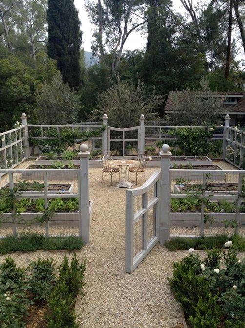 gray garden fence