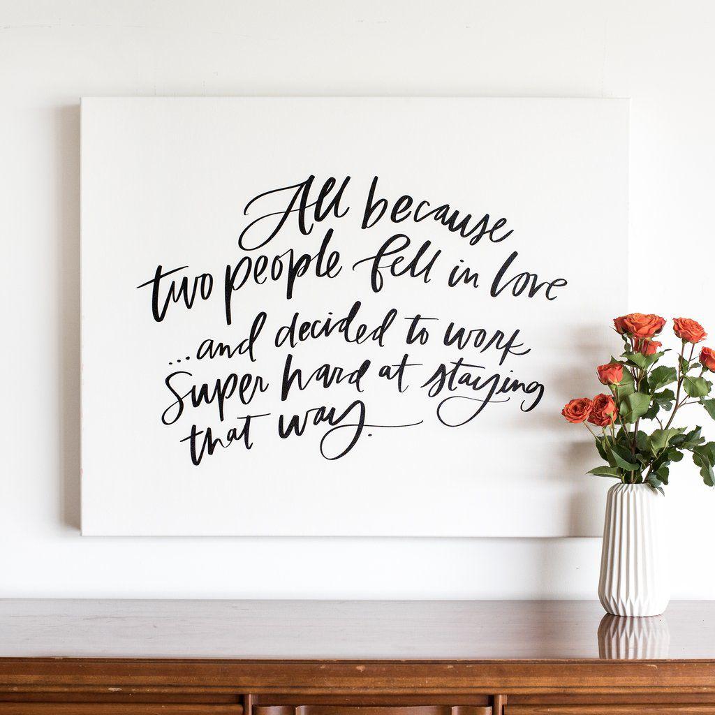 Heartfelt Canvas Guest Book