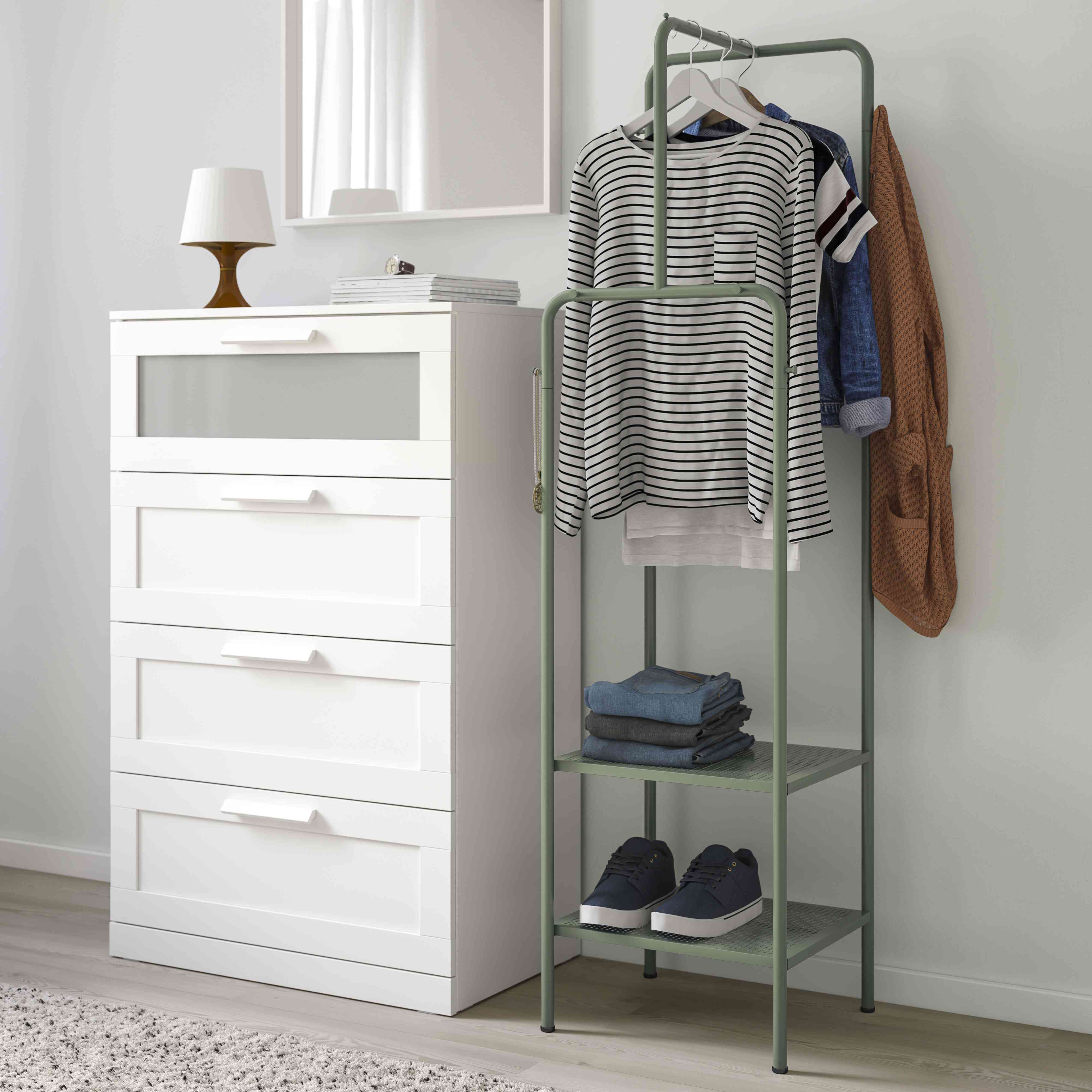 IKEA NIKKEBY Clothes Rack, Gray-Green