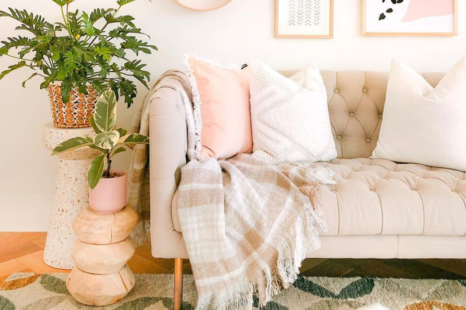 decorative throw pillows and special touches