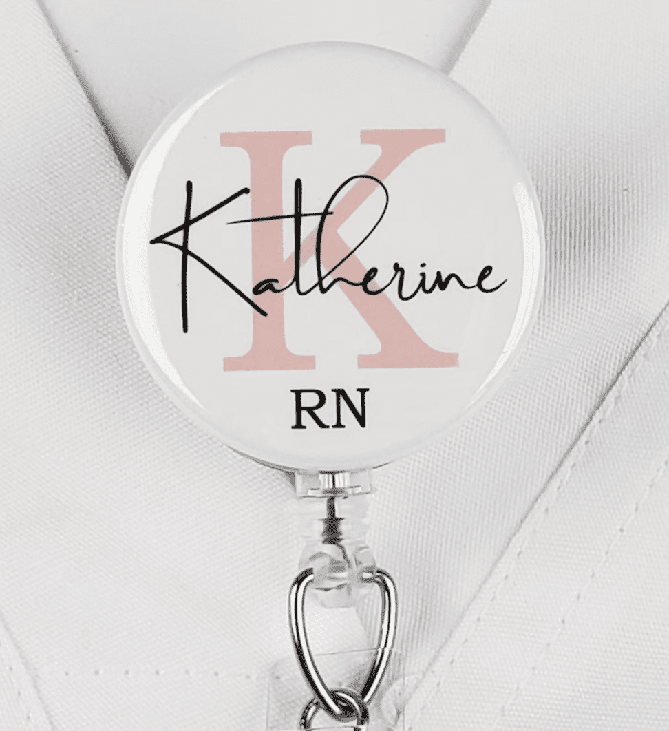 Etsy Personalized Badge Reel